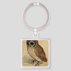 Albrecht Durer The Little Owl Square Keychain