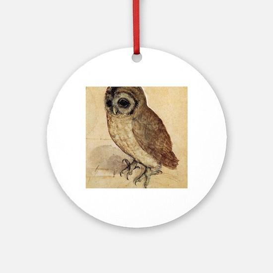 Albrecht Durer The Little Owl Round Ornament