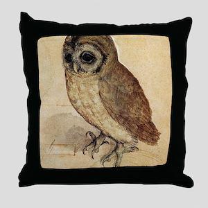 Durer Owl Throw Pillow