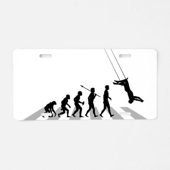 Trapeze Aluminum License Plate