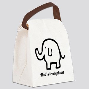 Thats Irrelephant Canvas Lunch Bag
