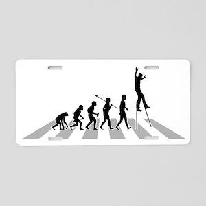 Walking-On-Long-Sticks-B Aluminum License Plate