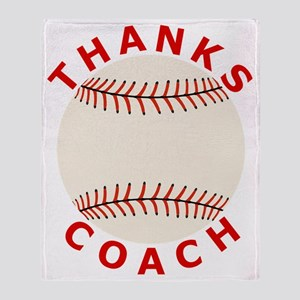 Baseball Thanks Coach Throw Blanket