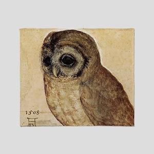 Albrecht Durer The Little Owl Throw Blanket