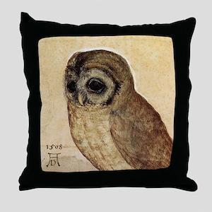 Albrecht Durer The Little Owl Throw Pillow