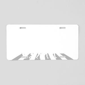 Trapeze-A Aluminum License Plate