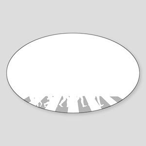 Trapeze-A Sticker (Oval)