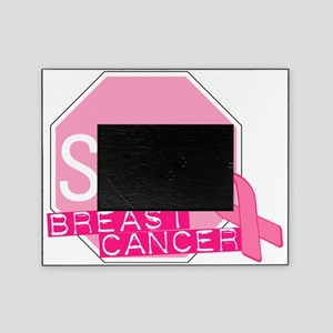 STOP Breast Cancer Pink Ribbon Sign Picture Frame