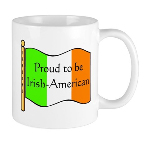 Proud Irish-American (w-flag) Mug