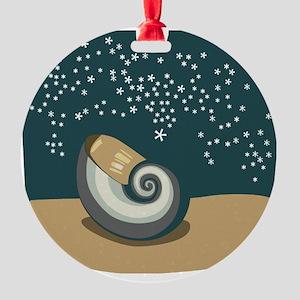 00037_Snail71 Round Ornament