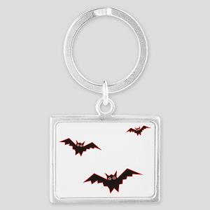 Halloween Bats Landscape Keychain