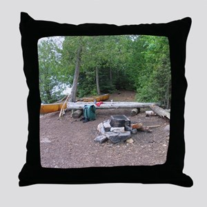 Boundary Waters Campsite Throw Pillow