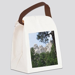 Mount Rushmore Canvas Lunch Bag