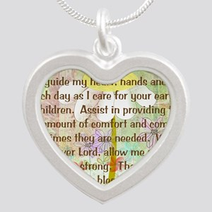 Nurse Prayer Blanket Size Ye Silver Heart Necklace