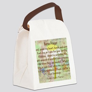 Nurse Prayer Blanket Size Yellow Canvas Lunch Bag