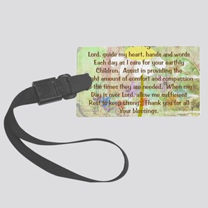 Nurse Prayer Blanket Size Yellow Large Luggage Tag
