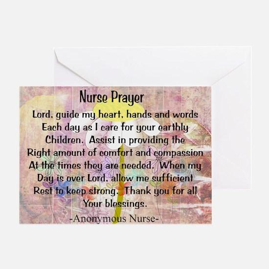 Nurse prayer blanket PINK Greeting Card