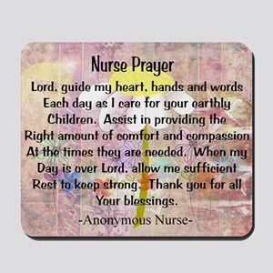 Nurse prayer blanket PINK Mousepad