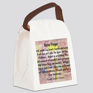 Nurse prayer blanket PINK Canvas Lunch Bag