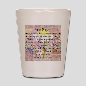 Nurse prayer blanket PINK Shot Glass