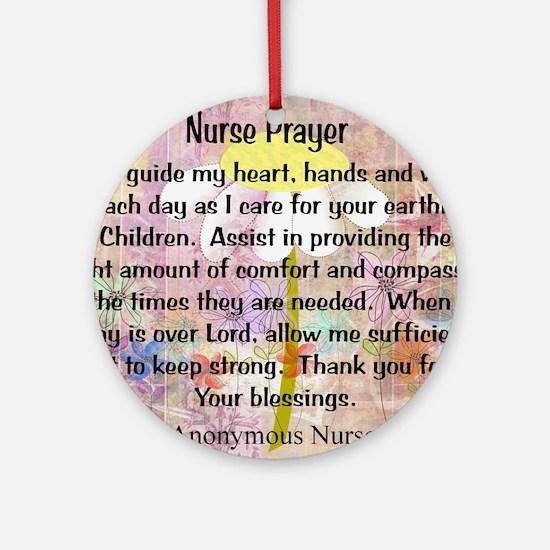 Nurse prayer blanket PINK Round Ornament