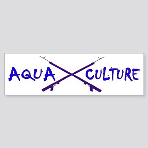 AQUA CULTURE SPEARGUNS BLUE PURPL Sticker (Bumper)