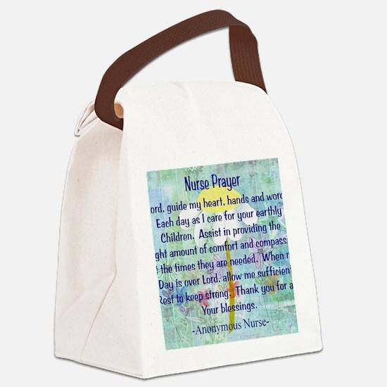 Nurse prayer blanket BLUE Canvas Lunch Bag