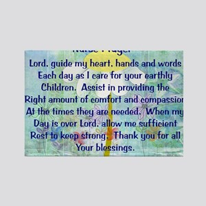 Nurse prayer blanket BLUE Rectangle Magnet