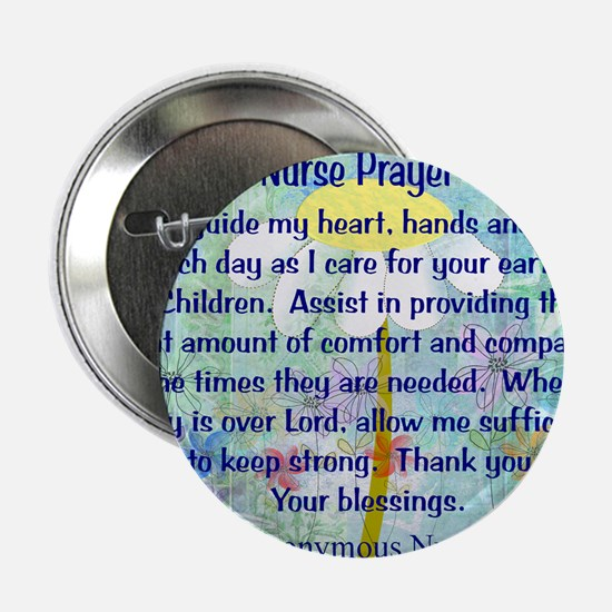 """Nurse prayer blanket BLUE 2.25"""" Button"""