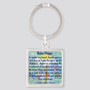 Nurse prayer blanket BLUE Square Keychain