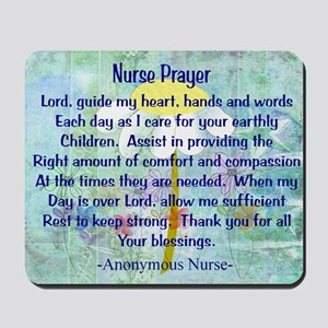 Nurse prayer blanket BLUE Mousepad