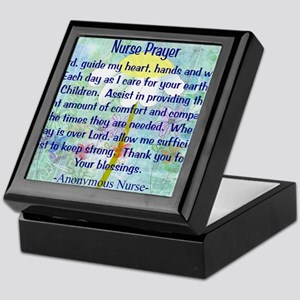 Nurse prayer blanket BLUE Keepsake Box