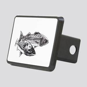 Double Trouble Striped Bas Rectangular Hitch Cover