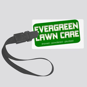 lawn care shaved powdered plucke Large Luggage Tag