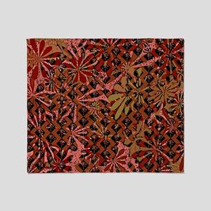 Floral Artwork Pattern Throw Blanket