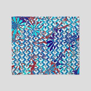 Funky Flower Art Pattern Throw Blanket