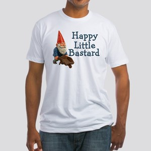 Happy little bastard Fitted T-Shirt