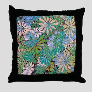 Flower Art Print Throw Pillow