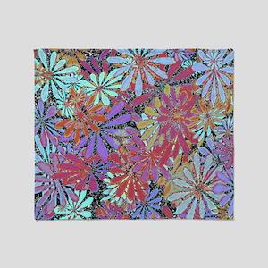Floral Art Pattern Throw Blanket