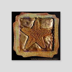 "marble starfish Square Sticker 3"" x 3"""