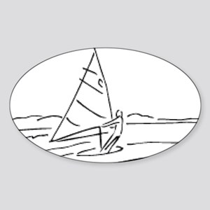 00013_Sailing15 Sticker (Oval)