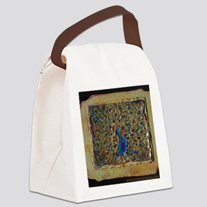 marble peacock Canvas Lunch Bag