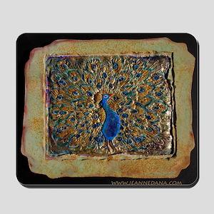 marble peacock Mousepad