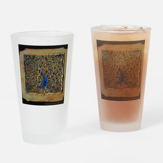 marble peacock Drinking Glass