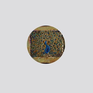 marble peacock Mini Button