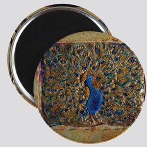 marble peacock Magnet