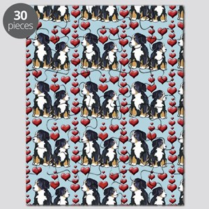 bernese Mtn dog shower curtain Puzzle