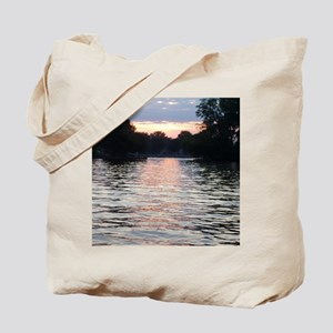 Indian lake Sunset Tote Bag