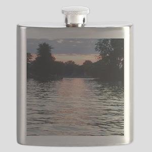 Indian lake Sunset Flask