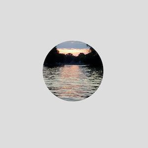 Indian lake Sunset Mini Button